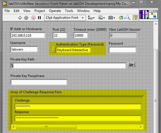 LabSSH New Session with Keyboard-Interactive Authentication Highlighted